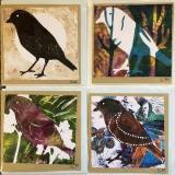 4 cards - bird series