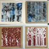 4 cards - tree series